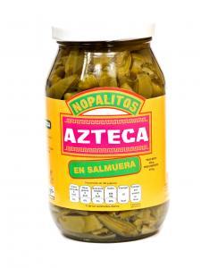 Nopal kaktus i skivor - NOPALITOS AZTECA 460g (mexikansk inlagd grönsak).
