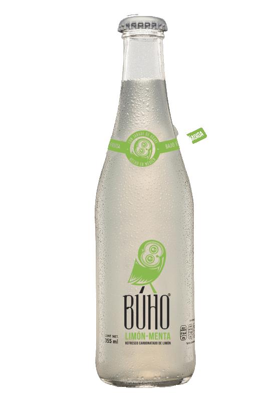 Lime Mynta BUHO gourmetläskedryck, 355 ml