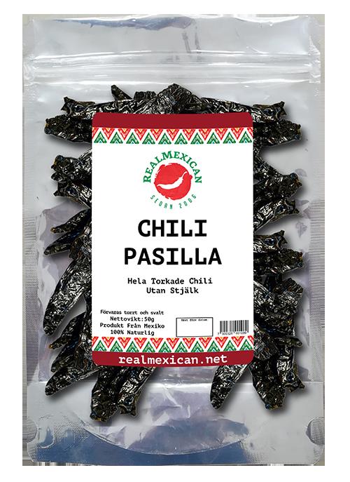 Svart Pasilla-chili, RealMexican, 50 g