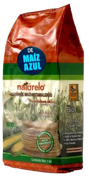 Blå majsmjöl för tortillas, Naturelo, 1 kg