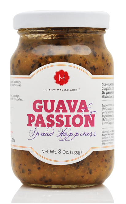 Happy Guava-Passion marmelad med organisk agave sirap, 235 g
