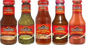 Set av 5 Såser - La Costeña 250g