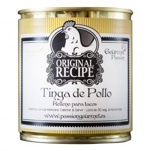 Tinga de pollo, kyckling i chipotle och tomatsås