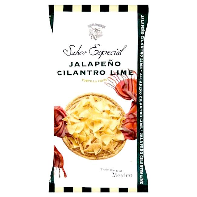 Totopos med smak av lime och koriander Jalapeno Chili