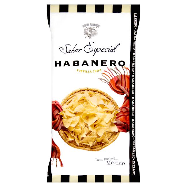 Totopos med smak av habanero Chili