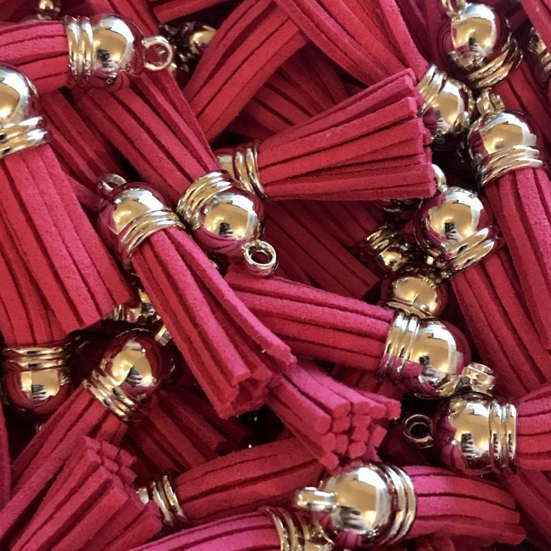 Tassel rosa 3cm, 1st