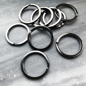 Nyckelring 25mm svart/gunmetal, 1st