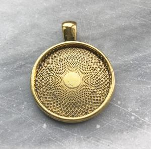 Berlock ram innermått: 25mm, guldfärg, 1st