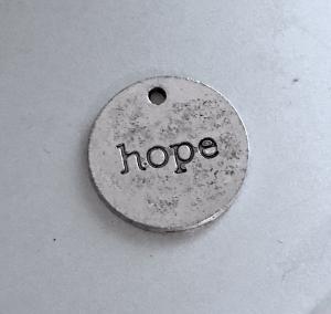 Berlock `hope`antiksilver, 5-pack