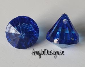 """Prisma liten """"Änglakropp"""" blå i acryl 1st"""
