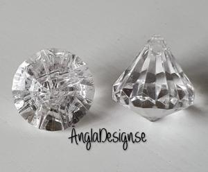 """Prisma liten """"Änglakropp"""" klar/transparent i acryl 1st"""