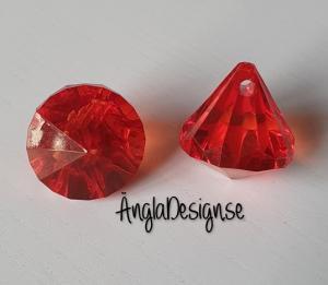 """Prisma liten """"Änglakropp"""" ljus röd i acryl 1st"""