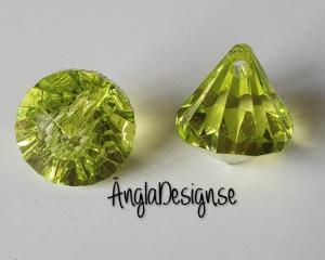 "Prisma liten ""Änglakropp"" mörk limegrön i acryl 1st"