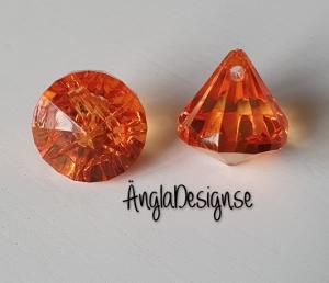"Prisma liten ""Änglakropp"" mörk orange i acryl 1st"