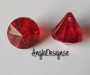 "Prisma liten ""Änglakropp"" mörk röd i acryl 1st"