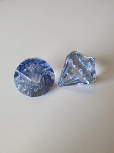 """Prisma stor """"Änglakropp"""" blå i acryl 1st"""