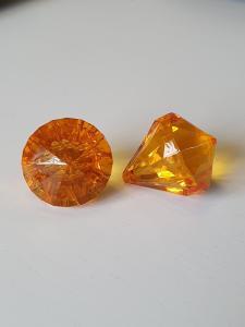 "Prisma stor ""Änglakropp"" orange i acryl 1st"