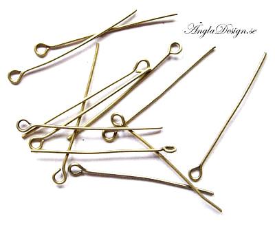 Öglepinnar brons 30mm, 20-pack