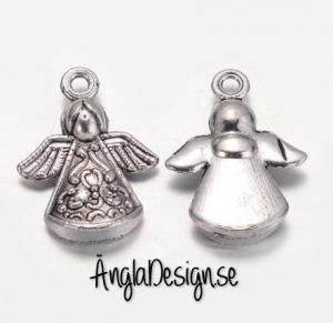 Berlock Ängel keltiskt mönster antiksilver, 3-pack