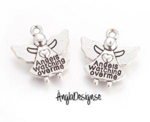 "Ängel ""Angles watching over me"" antiksilver 5-pack"