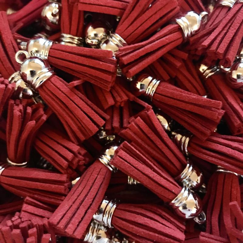 Tassel 3cm röd,1st