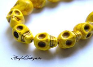 Magnesit döskalle, gul liten, 5 pack