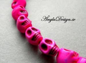 Magnesit döskalle starkt rosa liten, 5 pack
