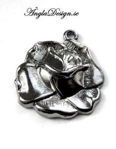 Berlock ros, svart/gunmetal, 1st