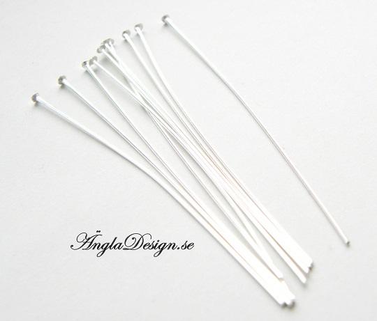 STORPACK hattpinnar ljust silver 5cm, 100-pack