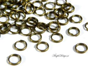 Splitringar brons 8mm, 30-pack