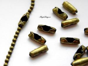 Lås kulkedja brons 2mm, 10-pack