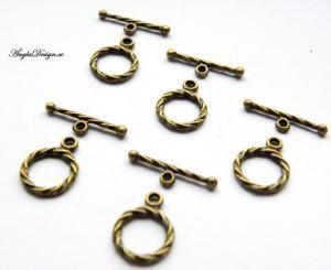 Togglelås små brons, 5-pack