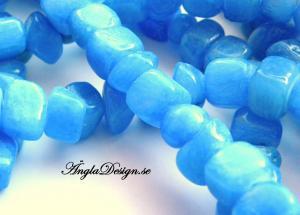Jadebumlingar large,  jeansblå, 20-pack