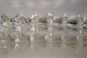 Änglakjol/blomma glas/transparent, 5-pack