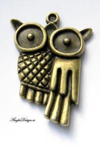 Hänge glasögon-uggla brons 3 st