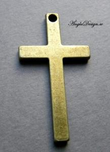 Hänge stort kors, slät, brons, 1st