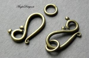 Kroklås stilrent, brons, 2-pack