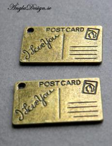 Berlock postcard brons, 2-pack