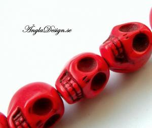 Magnesit döskalle, röd liten, 5 pack