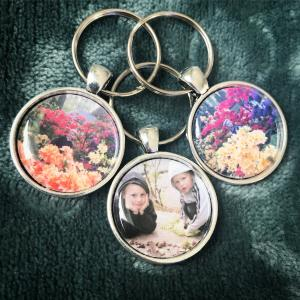 Smycke - nyckelring med eget fotografi/text 25mm, 1st