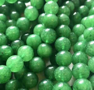 Jade rund, 10mm, grön, 1sträng