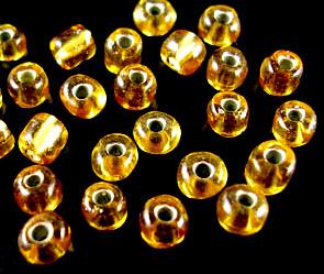 Golden silverline rocaille 4mm 25gram