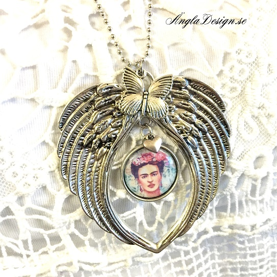 halsband med stora vingar antiksilver eget fotografi 1st 98a4288228e07