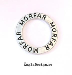 """Budskapsring """"Morfar"""" antiksilver, 1st"""