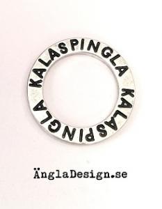 "Budskapsring ""Kalaspingla"" antiksilver, 1st"