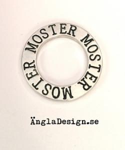 """Budskapsring """"Moster"""" antiksilver, 1st"""