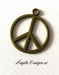 Hänge stort peacemärke brons, 3st