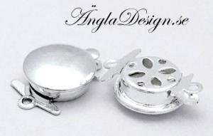 Lås 1-radigt ljus silver ,1st