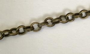 Kedja ärtlänk 4,5mm brons, 1 meter
