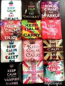 "Cabochon glas 20mm ""keep calm..""flera texter 1st"